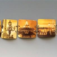 'Vieux Paris' Up Cycled Tin Link Cuff Bracelet