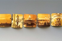 'Vieux Paris' Up Cycled Tin Link Cuff Bracelet