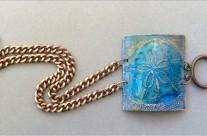 Etched Copper Sand Dollar Cuff Bracelet