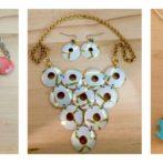 Spring 2017 Vintage Tin Statement Necklaces