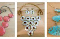 Spring Vintage Tin Statement Necklaces
