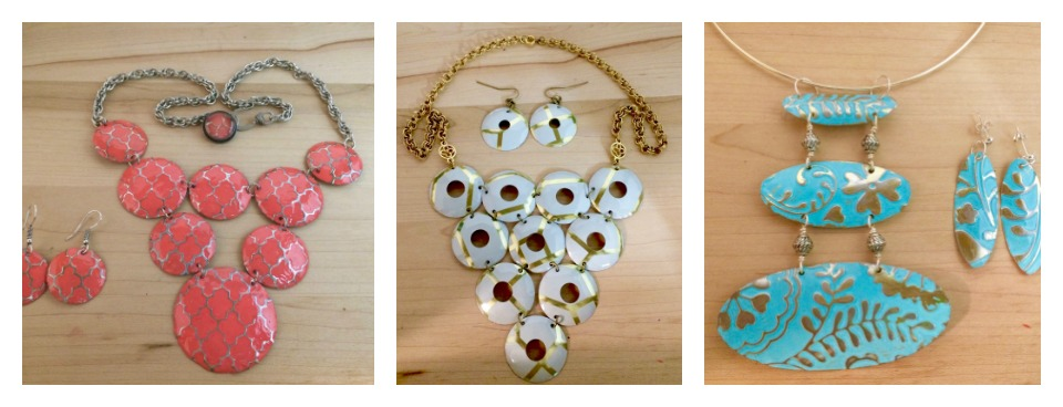Spring Vintage Tin Statement Necklaces