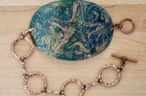 Etched Copper Starfish Cuff