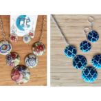 Vintage Tin Statement Necklaces