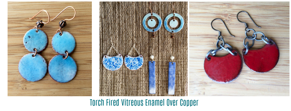 Torch Fired Vitreous Enamel Over Copper