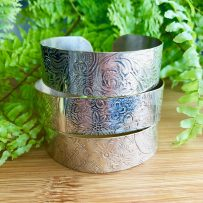 Silver plate Up cycled Vintage Tray Repurposed Cuff Bracelet