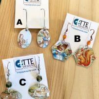 Vintage Tin Beatrix Potter Earrings