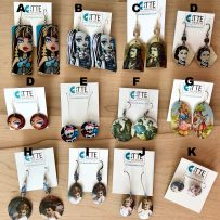 Vintage Tin 'Faces' – Various Earrings