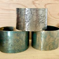 Silver Plated Tray Wide Cuff Bracelet