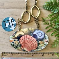 Vintage Tin Necklace  'Seashell Dreams'  Statement