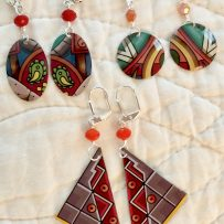 E. Vintage Tin Earrings  Commemorative Patron Tequila Design