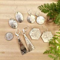 Silverplate Repurposed Serving Platter Earrings