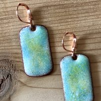 Vitreous Enamel Ethereal Beachy Blue Earrings