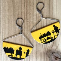Silhouette -Half Moon Earrings- 'Childrens Cookout'