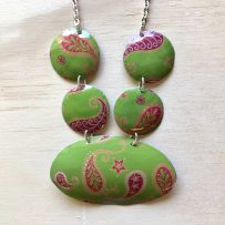 Paisley Power Vintage Tin Necklace