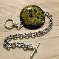 Vitreous Enamel Link Style Bracelet