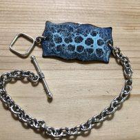 Vitreous Enamel Link Style Bracelet Aqua Cells