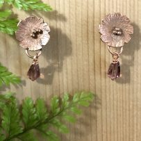 Handcrafted Natural Copper 'Lilly Pad' Earrings