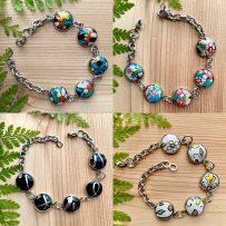 Vintage Tin Stainless Steel Base Link Style Bracelets