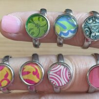 Vintage Tin Rings- Small Bezel -Stainless Steel [size 7]