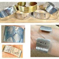 WTF Irreverent Repurposed Platter Cuff Bracelets