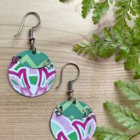 Pink & Green Vintage Tin~ 'LILY P' Inspired Earrings