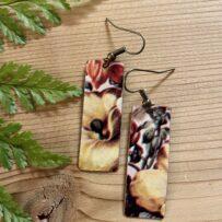 Heirloom Floral Inspired Vintage Tin Earrings